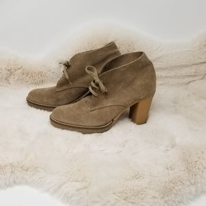 J. Crew Tan Suede Ankle Boots 7